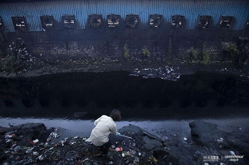 check the polluted river