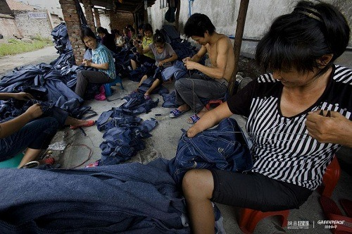 Jeans factory in Xitang