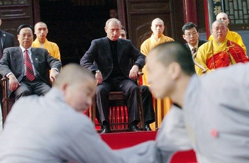 putin visit to Shaolin Temple