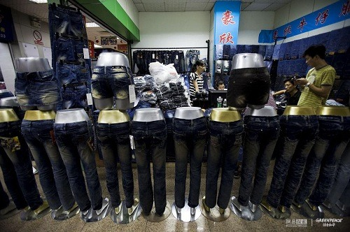 wholesale jeans mall in Xitang