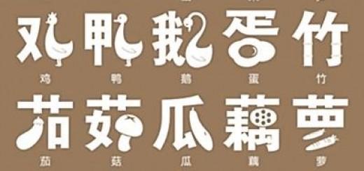 chinese pictograph menu