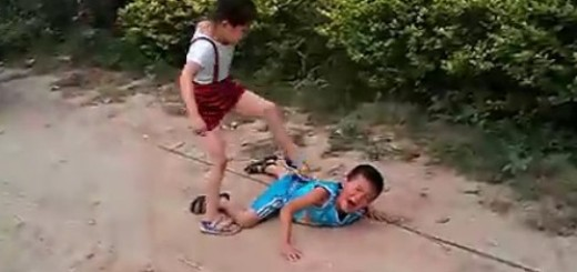 chinese girl beats boy