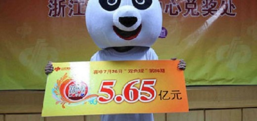 Chinese lottery winner in disguise