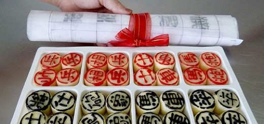 Chinese chess mooncake