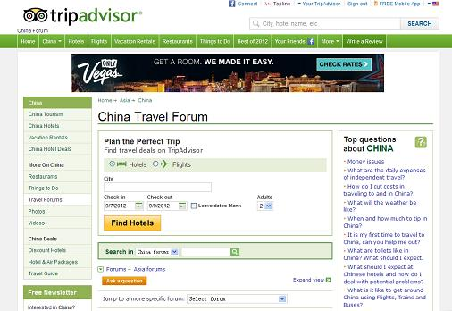 The top 5 China travel forums