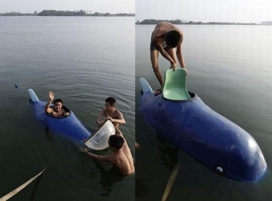 China homemade submarine