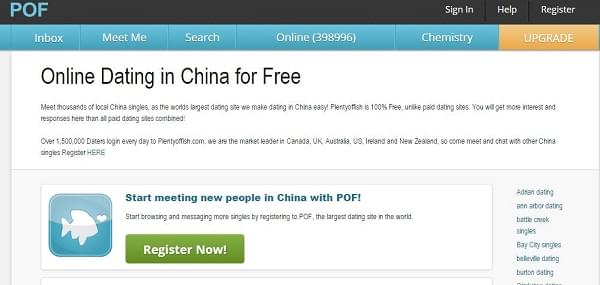 The 10 best online china dating websites to date chinese for Plenty of fish usa