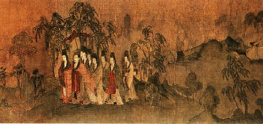 Nymph of the Luo River painting