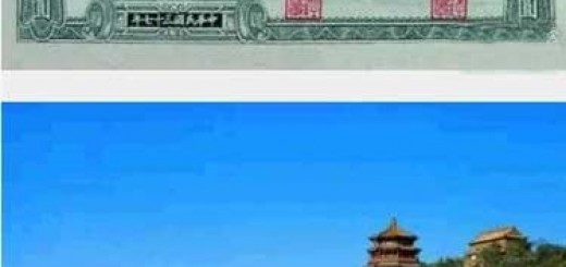 The back of 100 Yuan RMB (The thrid version of the first set RMB)
