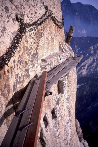 Top dangerous suspended plank roads in china