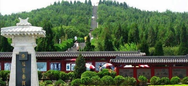 The mausoleum of Emperor Qinshihuang