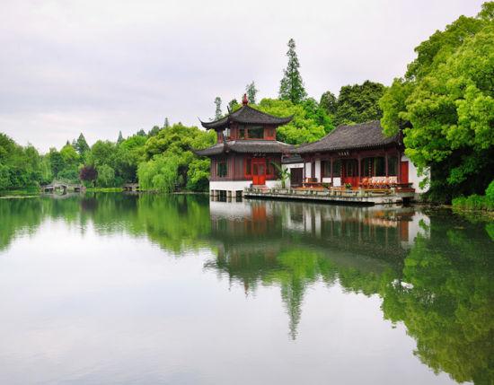 Hangzhou west lake scene