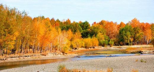 Kanasi Lake xinjiang autumn