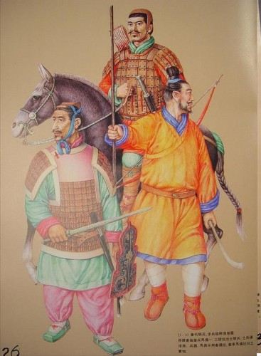 China Qin Dynasty army uniform