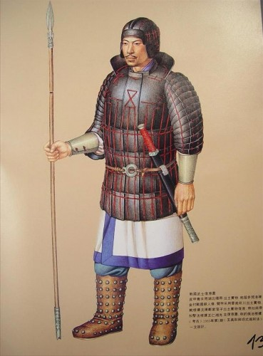 Eastern Zhou Dynasty army uniform