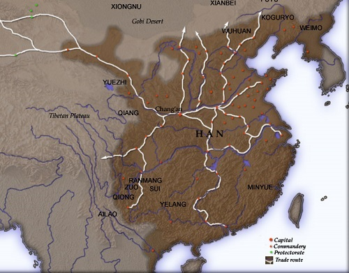 Han Dynasty Map