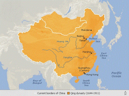 Top 10 Great Dynasties of China Qin Dynasty Map on