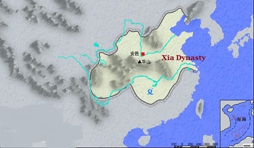 Xia Dynasty Map