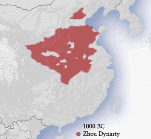 zhou dynasty map