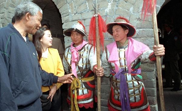 Mandela visit Great Wall