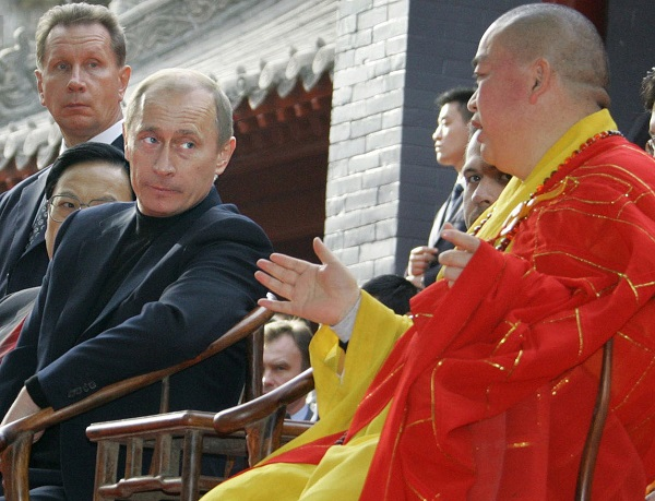 Vladimir Putin in Temple of Heaven