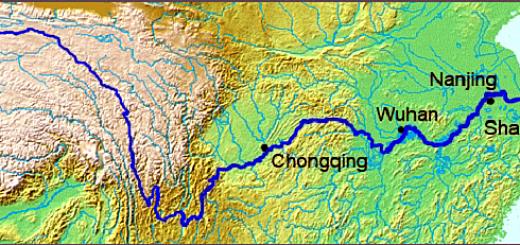 Yangtze map