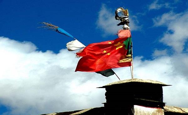 tibet chinese flag