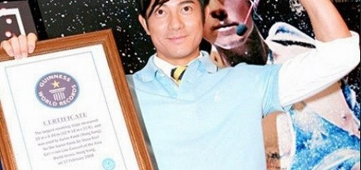 Aaron Kwok guiness world record