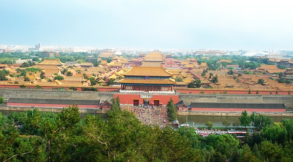 view of the Jingshan park