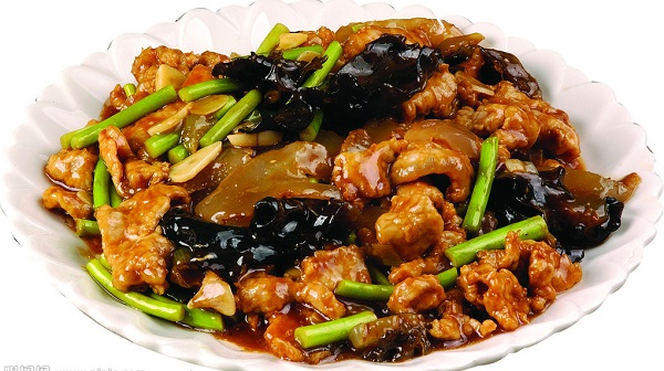 Fried Boiled Pork with Black Fungus
