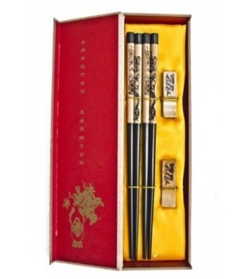Chinese Chopsticks with Double Dragons