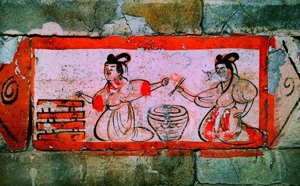 use of chopsticks in Weijin Dynasties
