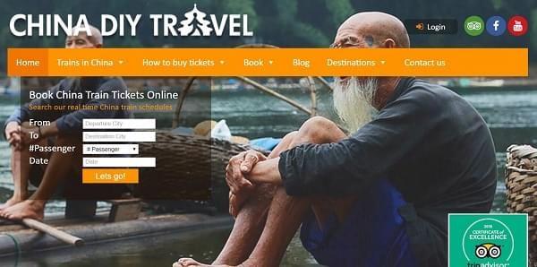 china diy travel train tickets